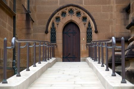 Side entrance to st. Mary's Cathedral in Sydney. Australia