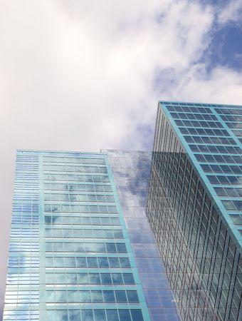 Clouds reflecting in Skyscraper in Sydney. Australia