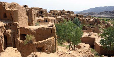 Deserted Village of Kharanaq near Yazd. Iran Stock Photo