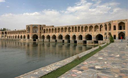 One of the bridges in Esfahan. Iran