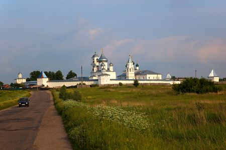 One of newly restored Monasteries. Pereslavl Zalessky. Russia. Stock Photo