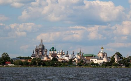 View from Lake Nero to Kremlin. Rostov Veliky. Russia.