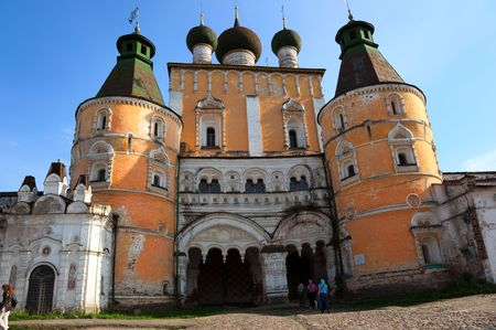 Gate church. Borisoglebsky monastery. Russia