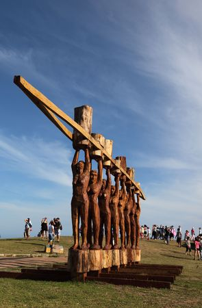 Sydney, Australia - NOVEMBER 02, 2009: The thirteenth annual Sculptures by the Sea exhibition. October 29 - November 15,  Art work title: The Eight By Stephen King.