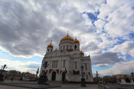Cathedral of Christ the Saviour in Moscow city centre. Russia. Stock Photo - 7406644