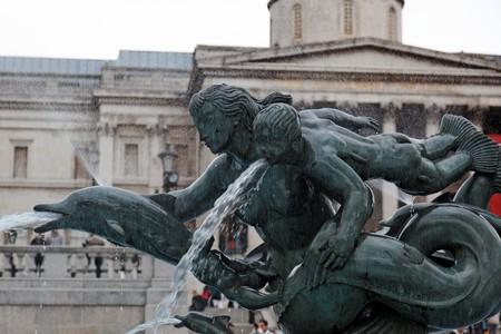 Detail of bronze Fountain in Trafalgar Square. London. UK. Stock Photo - 7406666
