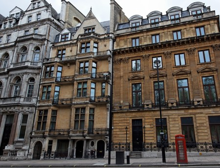 Streetscape in central London. UK. Stock Photo