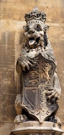 Lion. Facade detail. Houses of Parliament. London. UK. photo