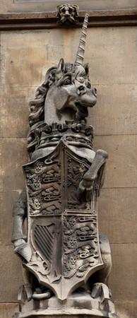 Unicorn. Facade detail. Houses of Parliament. London. UK. photo