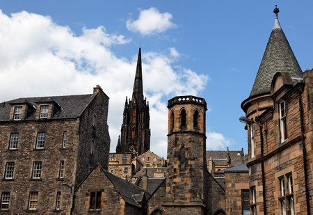 Historic buildings in Grassmarket area. Edinburgh. Scotland. UK. Stock Photo - 7526377