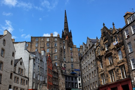 Historic buildings on Victoria St. Edinburgh. Scotland. UK. Stock Photo - 7526368