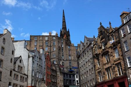 Historic buildings on Victoria St. Edinburgh. Scotland. UK. Stock Photo - 7526368