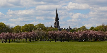 The Meadows Park in spring. Edinburgh. Scotland. UK. Stock Photo