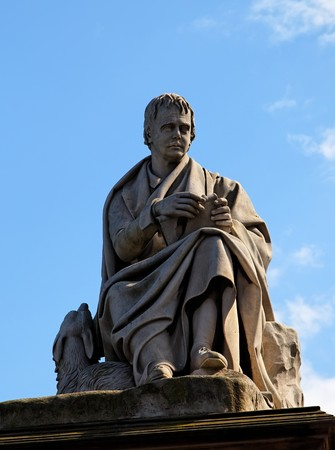 sir walter scott: Detail of Walter Scotts monument. Edinburgh. Scotland. UK.