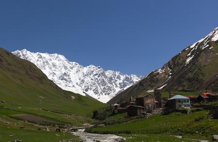 Ushguli - the highest inhabited village in Europe. Upper Svaneti, Georgia. Stock Photo - 9059801