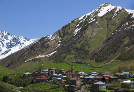 Ushguli - the highest inhabited village in Europe. Upper Svaneti. Georgia. Stock Photo - 9059804