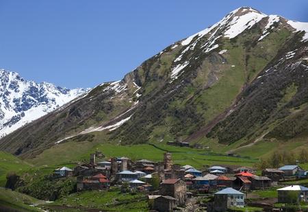Ushguli - the highest inhabited village in Europe. Upper Svaneti. Georgia. Stock Photo - 9059804