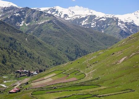 Ushguli - the highest inhabited village in Europe. Upper Svaneti. Georgia. Stock Photo - 9059814
