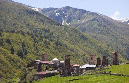 ushguli: Ushguli - the highest inhabited village in Europe. Upper Svaneti. Georgia.