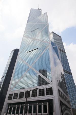 the central bank: Bank of China tower. Hong Kong.
