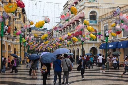 Largo do Senado, Senado Square. Macau. Editorial