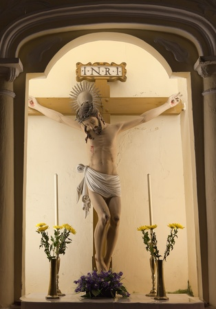 Jesus crucifixion. Church of St. Dominic (Domingos). Macau.