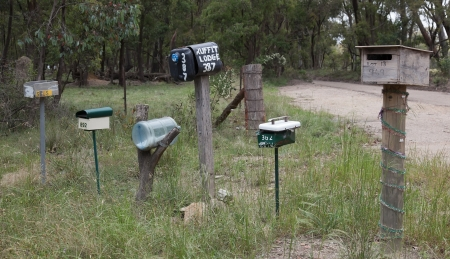 Roadside letter boxes  Country NSW  Australia  photo