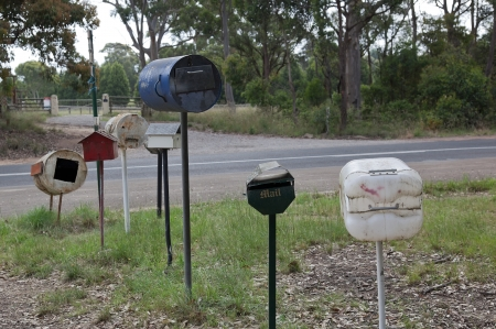 Roadside letter boxes  Country NSW  Australia