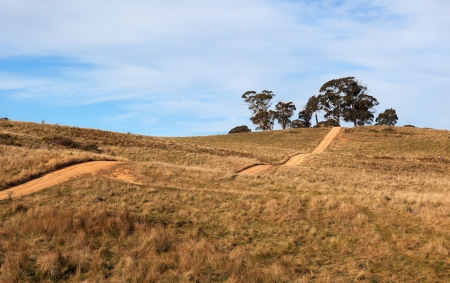 Hilly country road  Tablelands near Oberon  New South Wales  Australia