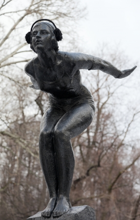 gorky: Swimmer  1930 by Matvey Manizer  Neskuchniy Garden  Moscow  Russia