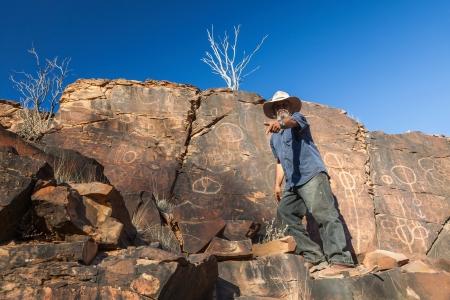 aborigines: Chambers Gorge aboriginal engraving site  Flinders Ranges  South Australia
