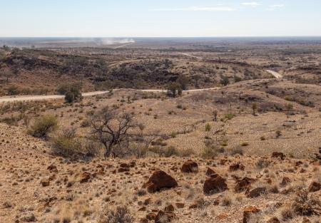 Desert landscape  Flinders Ranges  South Australia photo