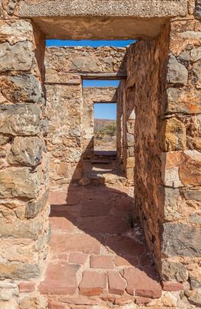 ranges: Rovine di abbandono Kanyaka fattoria Flinders Ranges South Australia