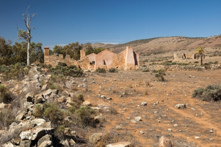 flinders: Ruins of abandon Kanyaka homestead  Flinders Ranges  South Australia