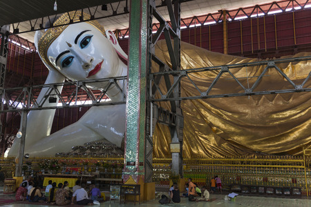 Reclining Buddha in Chaukhtatgyi Paya  This huge beautiful sculpture surprisingly very little known and rarely visited by foreigners