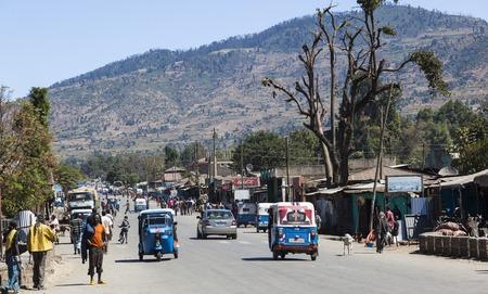 bajaj: Main street of small provincial town  Hirna  Ethiopia