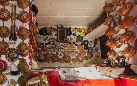 Typical interior of traditional house in ancient city of Jugol  Harar  Ethiopia