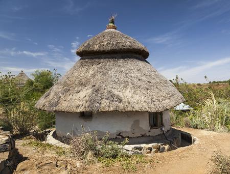 dwelling: Traditional Ethiopian house. Karat Konso. Ethiopia.