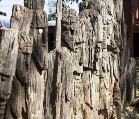 referred: Waga - carved wooden grave markers sometimes misleadingly referred as totems . Arfaide (near Karat Konso). Ethiopia.