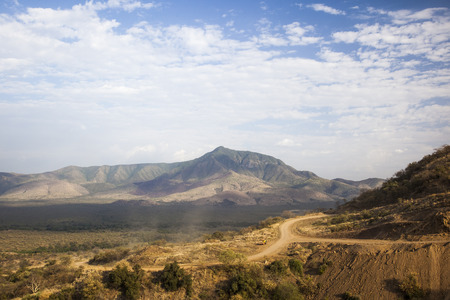 African landscape. Mago National Park. Omo Valley. Ethiopia.