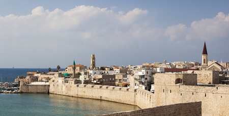 akko: Ancient city of Akko in the morning. Israel Editorial