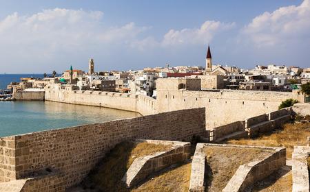 templars: Ancient city of Akko in the morning. Israel Editorial