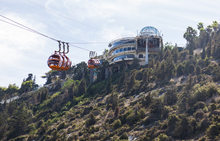 haifa: Mount Carmel Cable car. Haifa. Israel