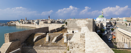 templars: Ancient city of Akko in the morning. Israel Editorial