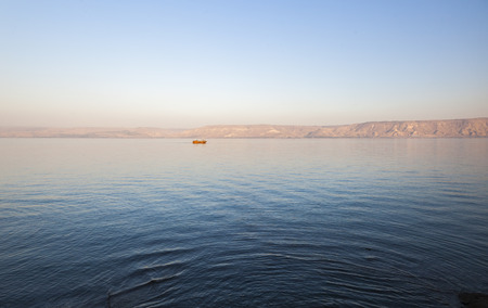 Sea lake of Galilee. Lower Galilee. Israel.