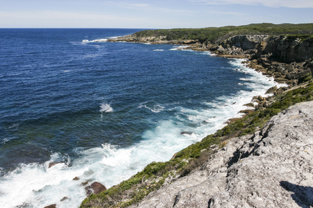 nsw: Rocky coast of Booderee National Park. Jarvis Bay. NSW. Australia.