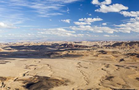 negev: Makhtesh Ramon Ramon Crater landscape. Negev desert. Israel