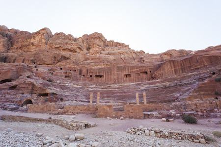 Ruins of Roman amphitheatre. Petra. Jordan.