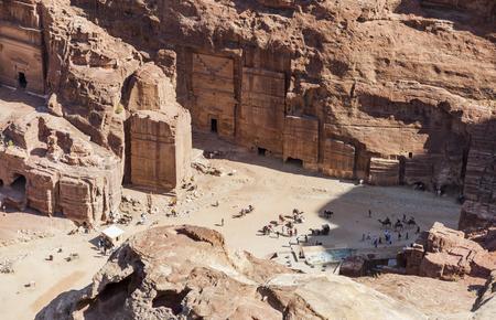 View down High Place of Sacrifice. Petra. Jordan.