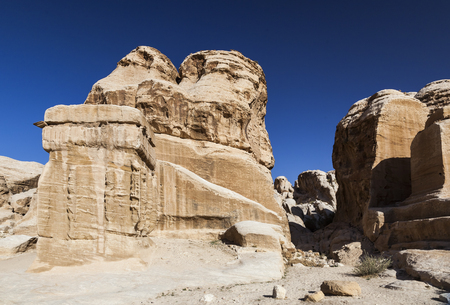 Djinn Block - the monuments that served as tomb and memorial to dead. Stock Photo